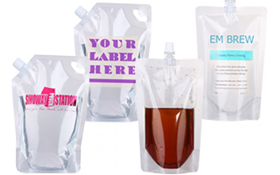 Clear Nylon Spouted Liquid Stand up Pouch