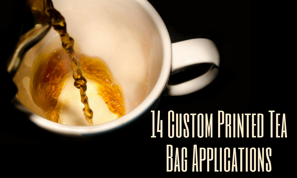 14 custom printed tea bag applications