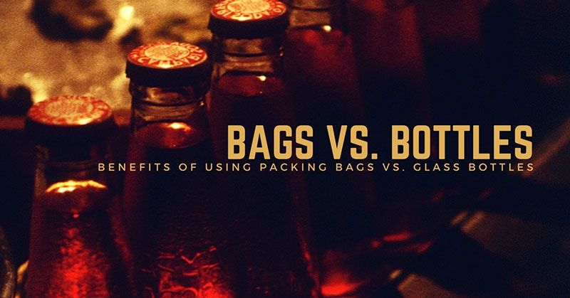 packing bags vs glass bottles