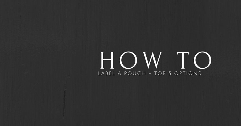 how to label a pouch